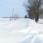 Zăpadă de doi metri pe drumul spre Munteni