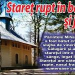 Stareţul Mănăstirii Bisericani, rupt în bătaie şi tâlhărit