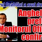 Angheluță, prefect! Monitorul Oficial confirmă!