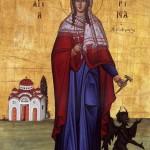 Sfânta Mare Muceniţă Marina, izbăvitoarea de duhuri rele şi ocrotitoarea femeilor care nasc