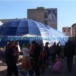 Cortul din Piața Centrală rămâne pe poziții până după Paști