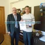 Inventatorul dr. Filip Panait, felicitat de preşedintele CJ