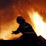 Incendiu la sonda petrolieră de la Pipirig