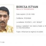 Urmărit internațional prins la Roznov