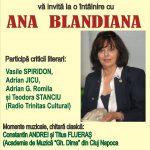 De Ziua Mondială a Poeziei,  Întâlnire cu Ana Blandiana, la Teatrul Tineretului