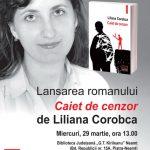 Comunicat de presă  Conferință despre cenzură și lansare de carte semnată de Liliana Corobca, la Biblioteca Județeană