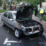 Autoturism ars din cauze neelucidate
