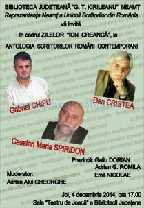 Afis 12_04_2014 Antologia scriitorilor romani contemporani