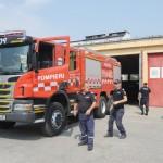 Pompieri in actiune